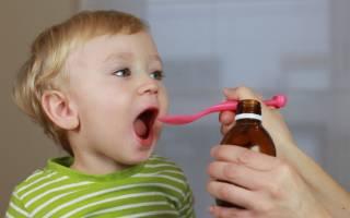 Лечение сухого кашля у ребенка до 2 лет