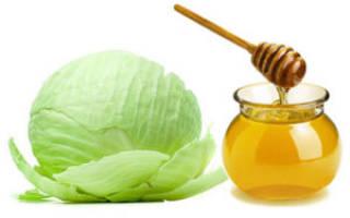 Капустные листья с медом лечение кашля у ребенка