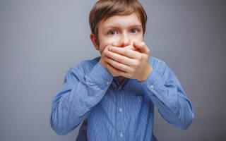 Запах изо рта у ребенка 7 лет причины лечение