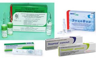 Прививка от клеща детям со скольки лет
